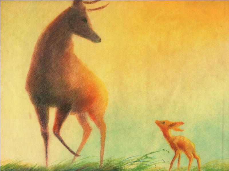 Dans ce film, sa mère est tuée par un chasseur, et il se lie d'amitié avec un lapin.