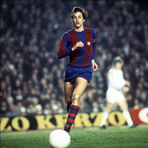 En 1974, il est le premier joueur à recevoir le ballon d'or pour la troisième fois; un record qui ne sera dépassé qu'en 2012. Qui est-ce?