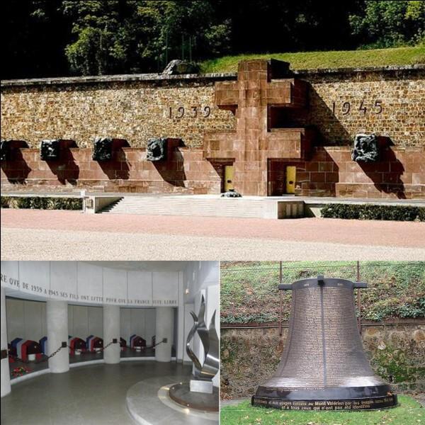 Allons au mont Valérien où se trouve le Mémorial. On peut y voir 17 sépultures où reposent les corps de Français qui ont combattus et qui sont décédés durant la 2e Guerre mondiale.Quel est le nom de ce mémorial ?Qui est inhumé dans le 9e sépulture ?