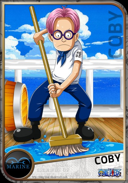 Comment s'appelle le garçon que Luffy rencontre et qui veut s'engager dans la marine ?