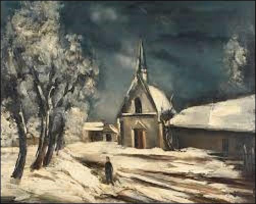 Peint vers 1930, ''Église sous la neige'' est un tableau d'un artiste des mouvements fauvisme et cubisme, aujourd'hui conservé au Centre Georges-Pompidou. Pourriez-vous me citer le nom de l'auteur de cette peinture ?