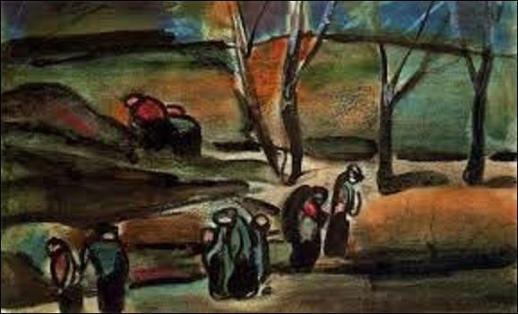 Exécutée en 1910, ''Hiver'' est une toile d'un peintre fauviste, expressionniste et d'art chrétien. Quel est le nom de l'artiste qui a peint ce tableau, se situant actuellement au Petit Palais ?