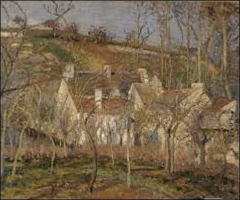 Huile sur toile de dimensions de 0,54 m de hauteur sur 0,65 m de longueur, ''Les toits rouges, coin du village, effet d'hiver'' est un tableau réalisé à Pontoise en 1877. Aujourd'hui conservée au musée d'Orsay, quel artiste impressionniste a créé cette œuvre ?