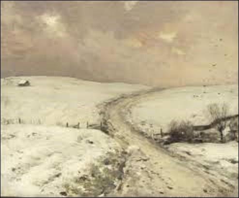 Peintre naturaliste, sculpteur et céramiste, né à Samer (Pas-de-Calais), le 25 mai 1841, il réalisa entre autres durant sa carrière, cette huile sur toile intitulée ''Paysage de neige'' ; actuellement conservée au musée d'Orsay. De quel artiste s'agit-il ?