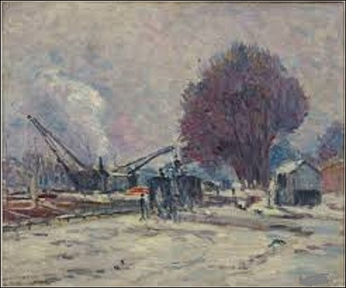 On reste un instant au musée d'Orsay avec cette huile sur toile datant de 1905 nommée ''La Neige au quai de Boulogne''. Quel peintre de mouvement néo-impressionnisme a peint ce tableau ?