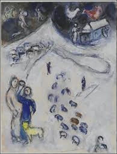 Conservée au Centre national d'art et de culture Georges-Pompidou, ''L'hiver'' est l'œuvre d'un artiste surréaliste et néo-primitivisme peinte en 1954. Quel est son nom ?