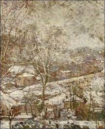 Et je termine par une femme de mouvement impressionnisme. Laquelle de ces trois artistes a peint ce tableau intitulé ''Paysage d'hiver'' ?