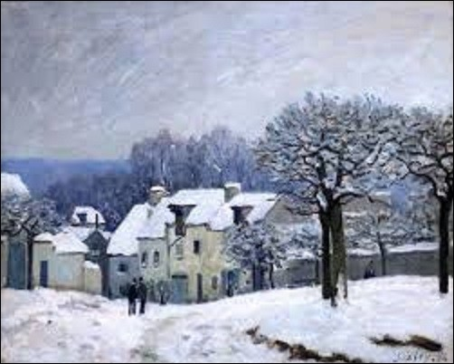 Peinte en 1876, ''La Place du Chenil à Marly, effet de neige'' est l'oeuvre d'un peintre impressionniste. Faisant partie d'une donation de monsieur François Depaux, industriel, collectionneur d'art et mécène, en 1909, au musée des Beaux-Arts de Rouen, où elle se trouve toujours, quel artiste a créé cette toile ?