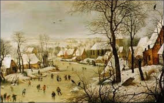 Réalisé par un peintre de mouvement renaissance flamande en 1565, ''Paysage d'hiver avec patineurs et trappe aux oiseaux'' est une toile nous montrant une scène de village avec des patineurs sur une rivière gelée et des oiseaux qui se rassemblent autour d'un piège sur le sol enneigé, dans des arbres nus. Quel est le nom de l'artiste qui a peint ce chef-d'œuvre ?