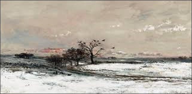Quel peintre de l'école de Barbizon, considéré comme un des précurseurs de l'impressionnisme, a créé, en 1873, ce tableau intitulé ''La Neige'' ?