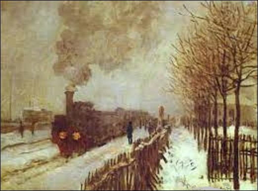 En 1875, quel peintre impressionniste a peint ce tableau nommé ''Train dans la neige'' ?