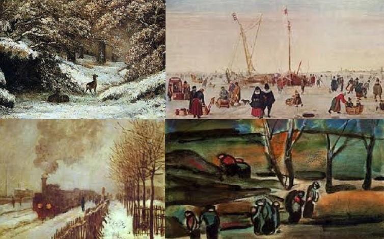 La neige et l'hiver dans les titres de peintures