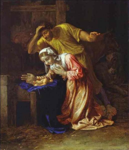 """P - Le peintre français Nicolas """"Poussin"""" a peint ce tableau."""