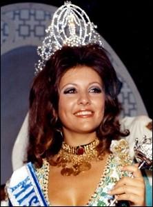 Georgina Rizk, la 20ème Miss Univers, fut élue en 1971; quel pays représentait-elle ?