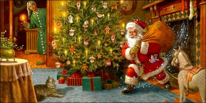 Passage du Père Noël.