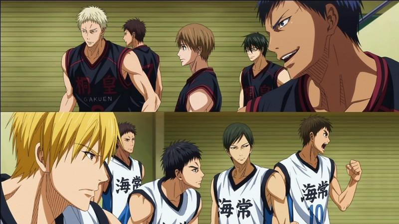 """Lors du match """"Kaijo vs Tôhô"""", Kise réussit à mettre Aomine hors de lui en le copiant. Malgré ça, l'équipe noire gagne à la fin. Mais l'as de l'équipe gagnante a fait un bon nombre de fautes, combien ?"""