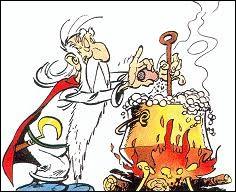 """Dans """"Astérix"""", comment s'appelle le druide qui concocte la potion magique ?"""