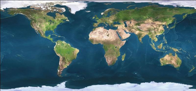 Quel océan est situé entre l'Asie, l'Océanie et l'Amérique ?