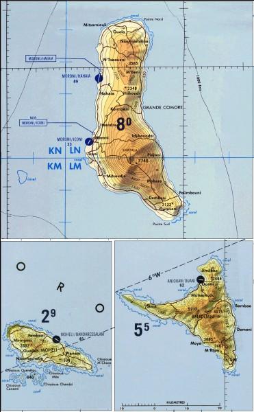 Nous voici à la 14e question et nous n'avons toujours pas parlé de l'islam en Afrique subsaharienne : les 6 prochaines questions du quiz y seront consacrées.L'archipel des Comores est un archipel à majorité musulmane, mais qu'elle est l'étymologie du mot Comores ?