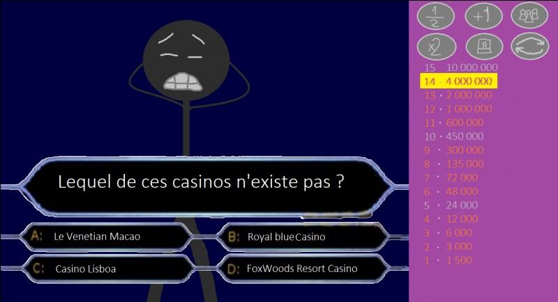 Lequel de ces casinos n'existe pas ?