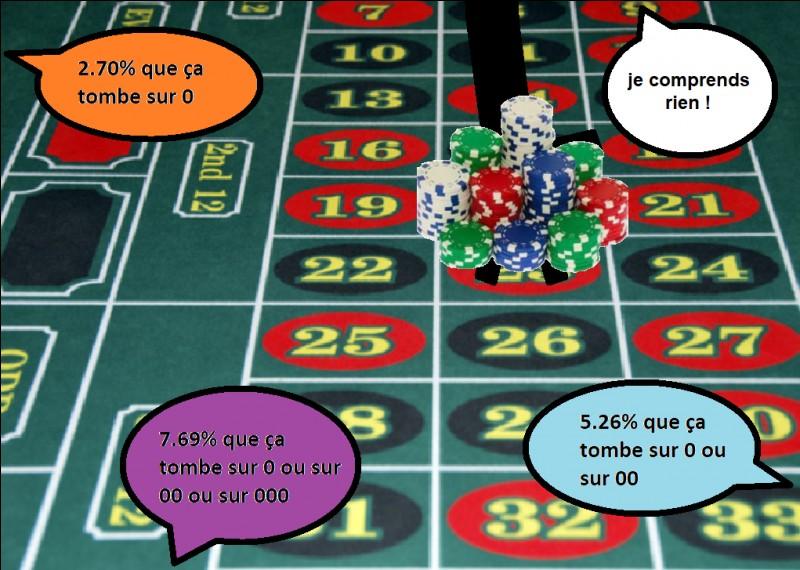 Parmi les 3 probabilités dans les bulles colorées, laquelle correspond à la roulette mexicaine ?