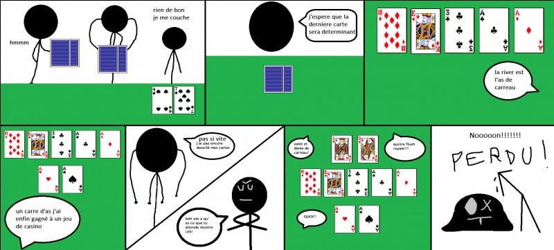 Lequel de ces jeux est-il directement une variante du poker ?