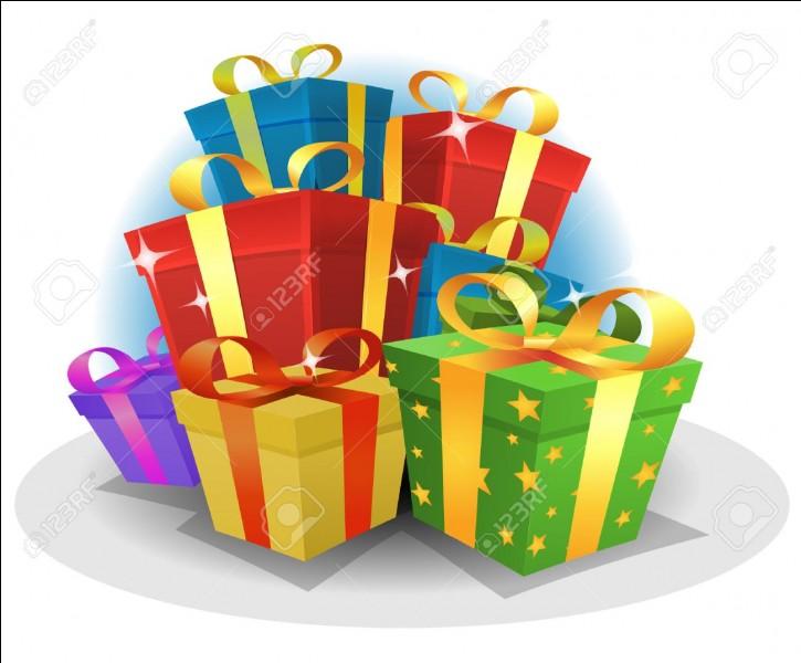 As-tu eu des cadeaux à Noël ?