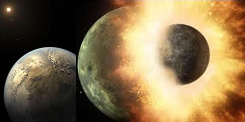 Il est dit que notre planète aurait subi une collision majeure entre elle et une autre planète nommée « Gaïa ». Cette collision aurait donné naissance à la Lune.Est-ce vrai ?Est-ce faux ?