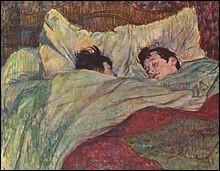 """Quel artiste a représenté """"Le lit"""" ?"""