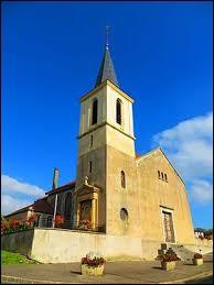 Voici l'église Notre-Dame de Malaucourt-sur-Seille. Village Mosellan dans le Saulnois, il se situe en région ...