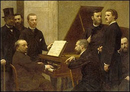 """Qui a peint """"Autour du piano"""" ?"""