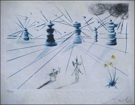 """Voici """"Don Quichotte et les moulins à vent"""" vu par """"l'artiste"""" de Figueras. Il s'agit de :"""