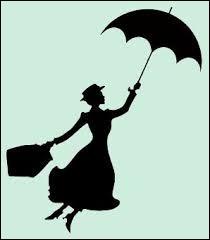 Regardez ! Elle s'envole avec son parapluie :