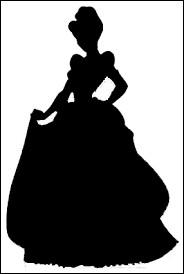 Cette princesse est jolie dans sa robe de bal :
