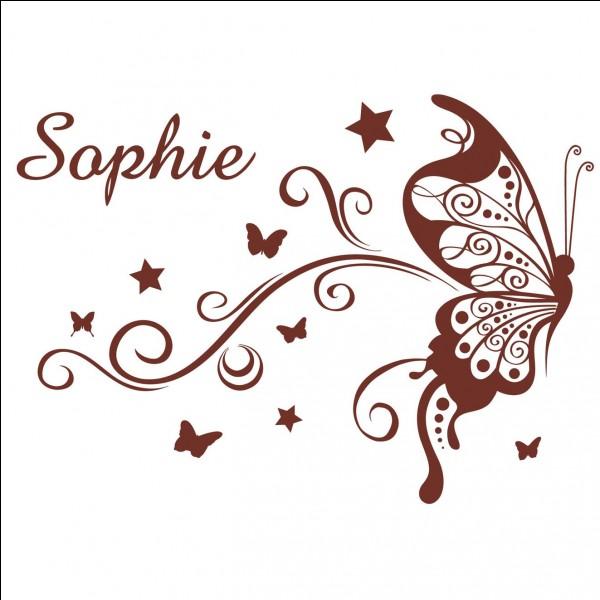 Je suis Sophie mais je ne suis pas Sophie. Qui suis-je ?