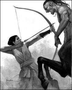 Les centaures Rhoecus et Hylaeus ayant voulu violer cette célèbre chasseresse, celle-ci les tua à coups de flèches. Qui est-elle ?
