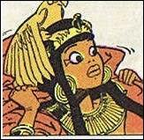 """Dans la série """"Papyrus"""", quel est le nom de l'amie du héros, la princesse d'Egypte ?"""