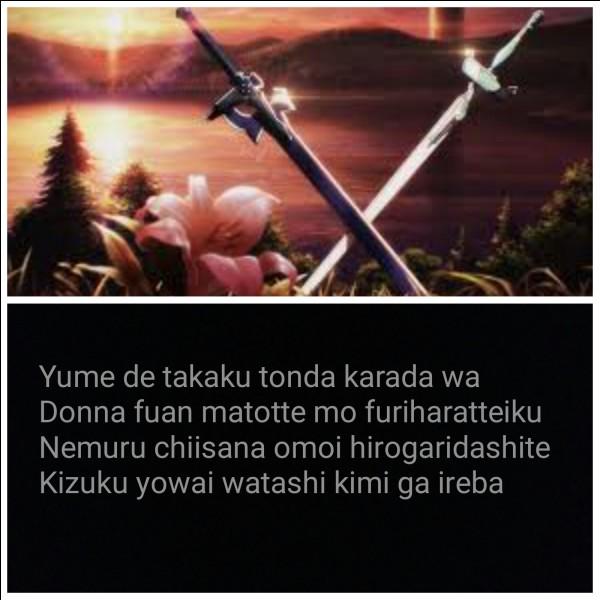 """Le retour du 1er opening de """"Sword Art Online"""". Il s'appelle..."""