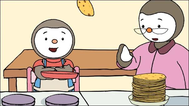 Et enfin lequel de nos petits héros va manger ses crêpes ?