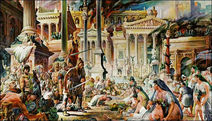 Rome est mise à sac en 410 par Alaric, ce qui secoue profondément l'empire et notamment les intellectuels. De quel peuple barbare Alaric était-il le chef ?