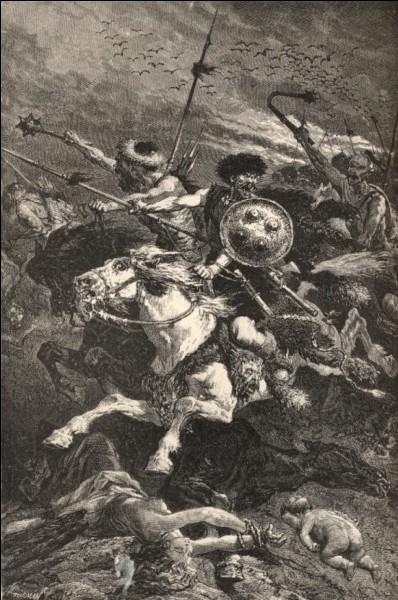 Durant quelle bataille les Huns commandés par Attila sont-ils repoussés par le général romain Aetius et ses alliés en 451 ?