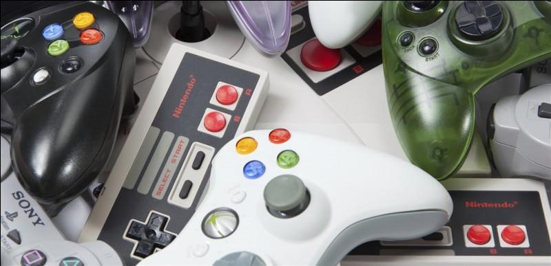 Quelle est la manette Nintendo qui apparaît deux fois sur cette image ?