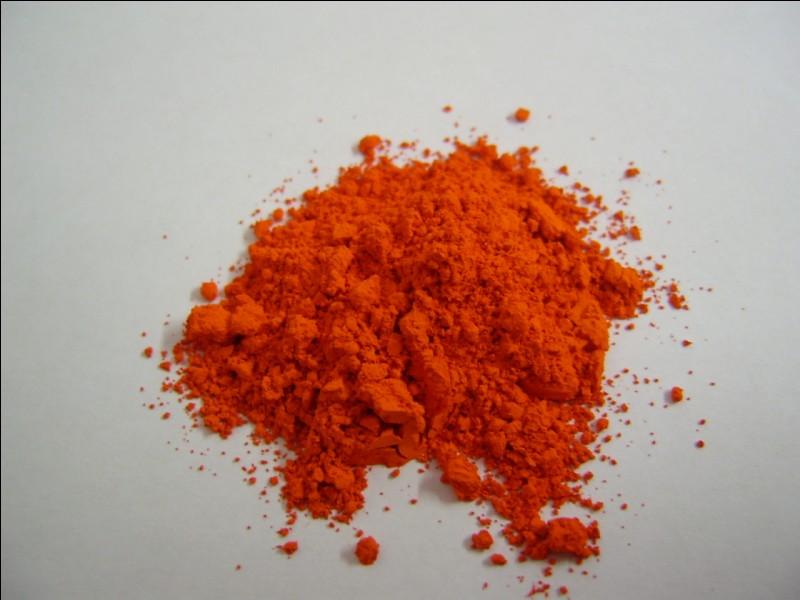 Pigment rouge, à rouge orangé, constitué par un oxyde de plomb. Il s'agit du...