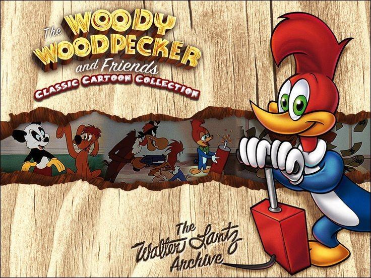"""W - """"Woody Woodpecker"""" apparaît pour la première fois en 1940 dans un court métrage intitulé Knock Knock."""