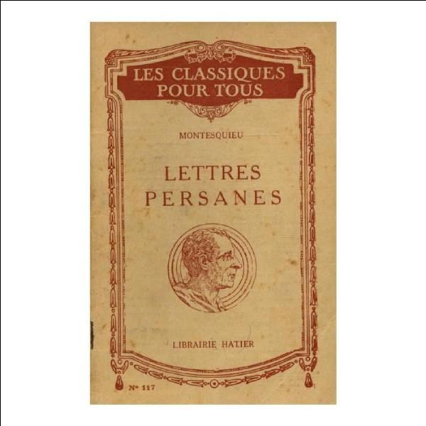 """Dans les """"Lettres Persanes"""", de quelle ville provient Uzbek ?"""
