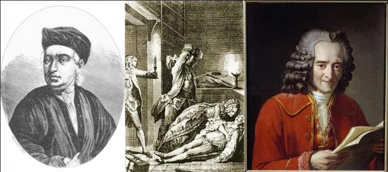 Nous sommes le 13 octobre 1761 à Toulouse : Semble-t-il, un jeune homme se suicide. Son père, profondément croyant, maquille ce suicide en meurtre pour éviter que son corps ne subisse le traitement alors infligé aux suicidés. Il sera accusé de meurtre et exécuté. L'intervention d'un philosophe des Lumières permettra sa réhabilitation.Quelle est cette affaire.Qui est ce philosophe ?