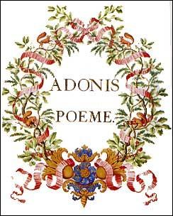 """Qui parle de """"la grâce plus belle encore que la beauté"""" dans son poème """"Adonis"""" ?"""