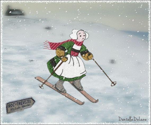 Cette héroïne de Bretagne n'est pas très téméraire. Elle s'essaie au ski de fond mais quel est son nom ?