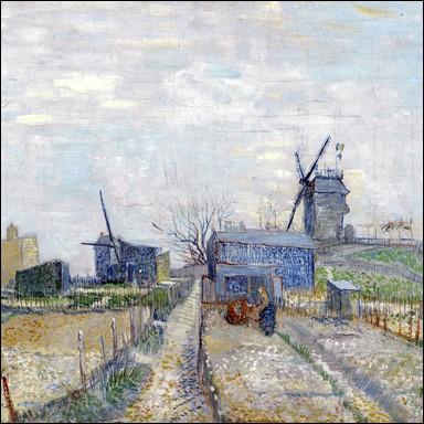 """""""Jardins potagers et moulins à Montmartre"""" 1887"""