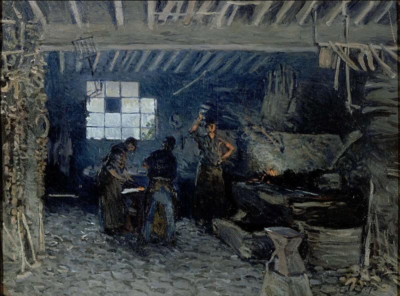 """Qui a peint """"La Forge à Marly-le-Roi"""" ?"""